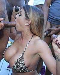 Brooklyn Chase's Second Appearance Interracial Porn Pics
