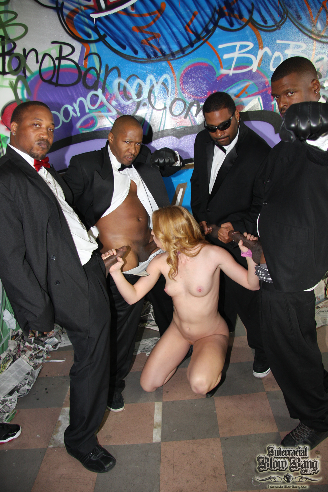 Whore gangbanged by thugs 5