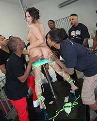 Ashley Adams Blacks On Blondes Gangbang