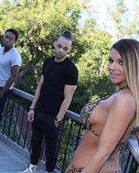 Brooklyn Chase's Second Appearance Erect Black Dick