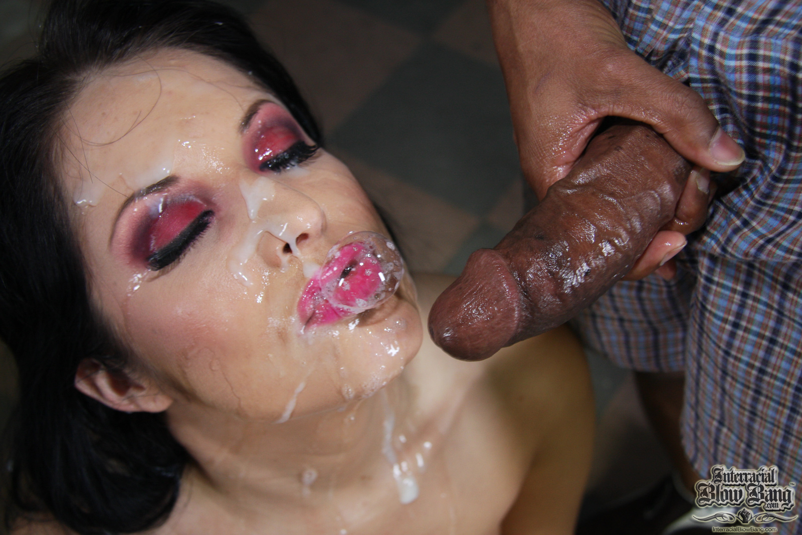 On cum girls beautiful face with their