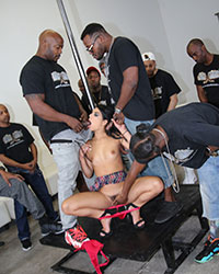 Gina Valentina Sucking Big Black Dick