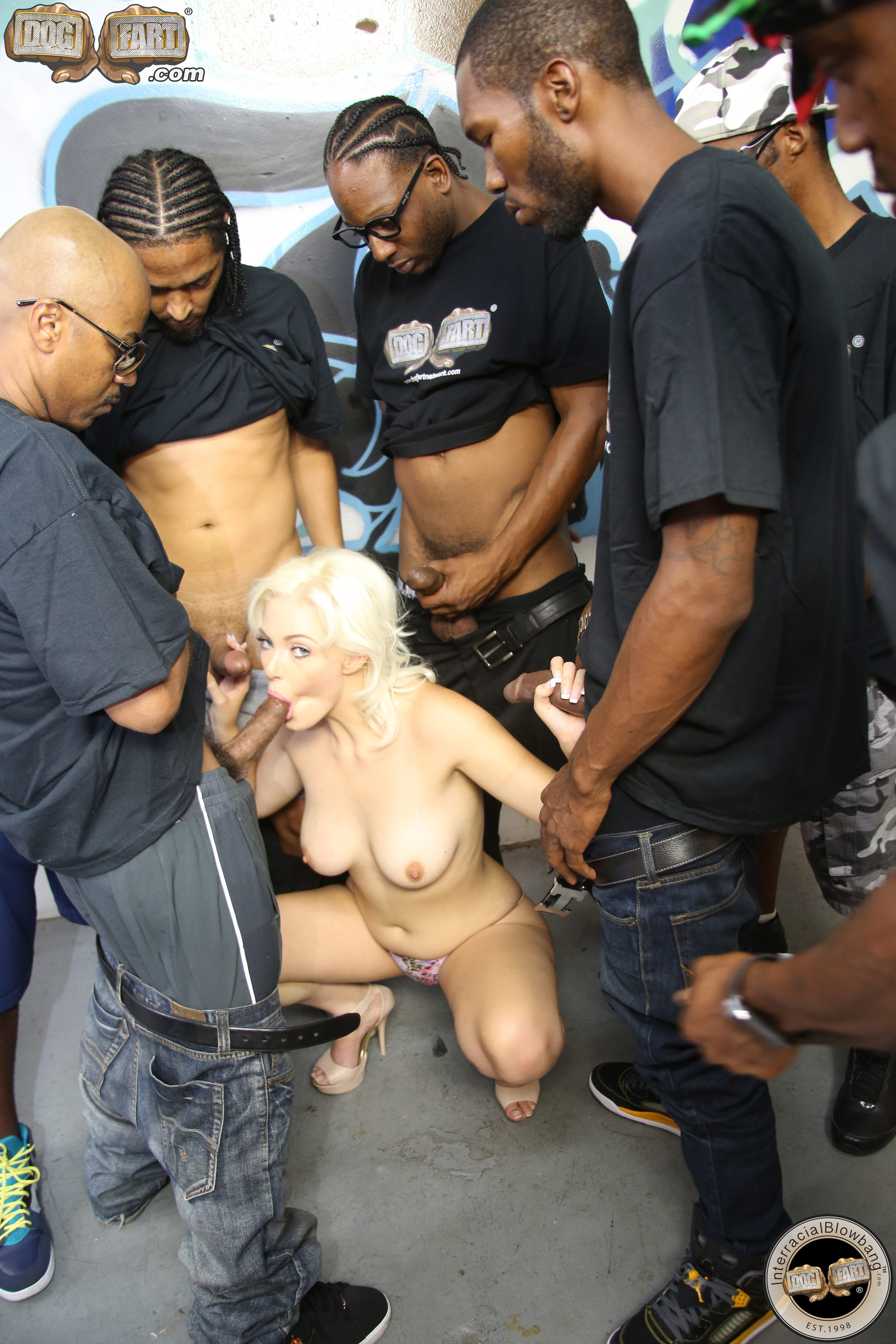 Austin gags on black cock - 1 part 7