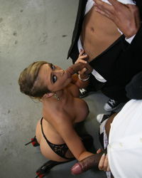 Kagney Linn Karter Suck Black Dick