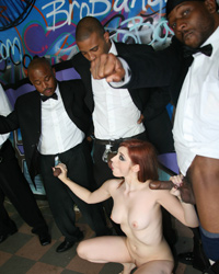1 white girl fucked by 10 black monster cocks - Violet Monroe